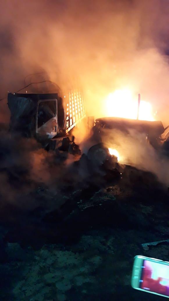 Accidente de la Loma deja fuerte incendio