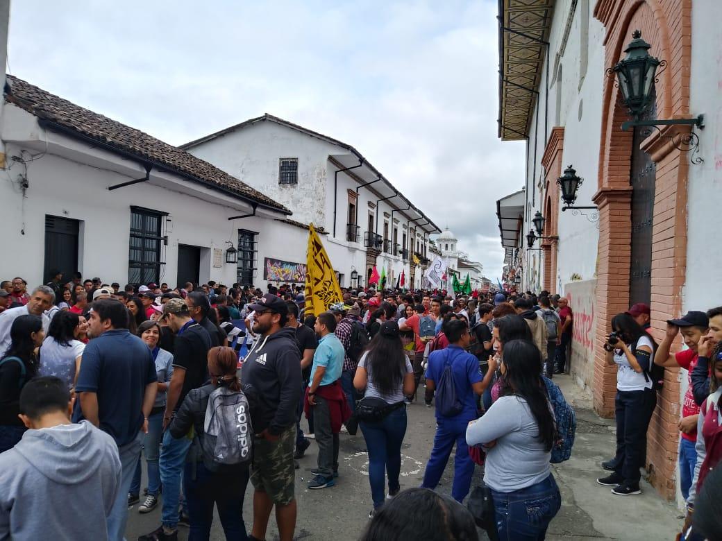 Manifestaciones en Popayán.