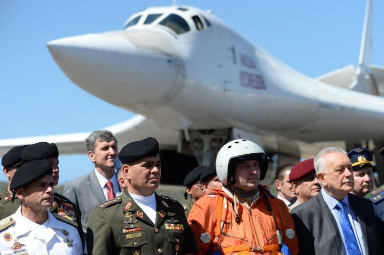 Aviones militares rusos llegaron a Caracas