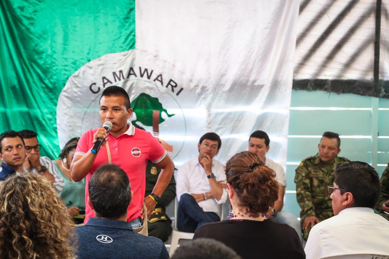 Los lideres de la comunidad indígena exigieron protección para su territorio y sus vidas.