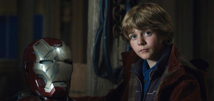 Ty Simpkins como el niño Harley Keener en Iron Man 3