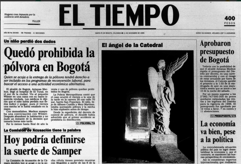 Imagen de la prohibición de la pólvora en Bogotá en la era de Antanas Mockus
