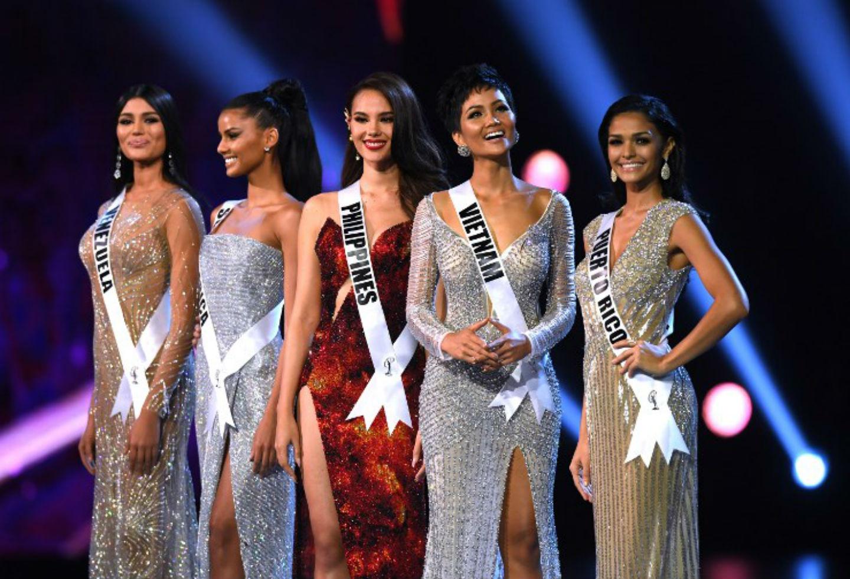 Cinco finalistas de Miss Universo 2018.