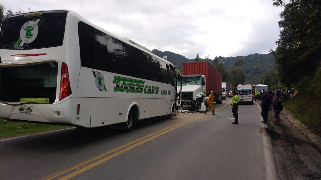 Accidente en la vía Ubaté - Simijaca
