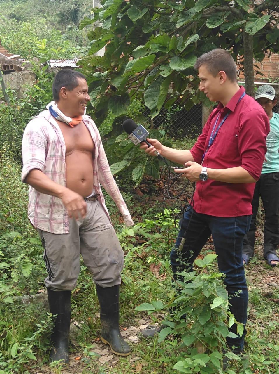 Pescadores en diálogo con RCN y LA FM desde Puerto Valdivia