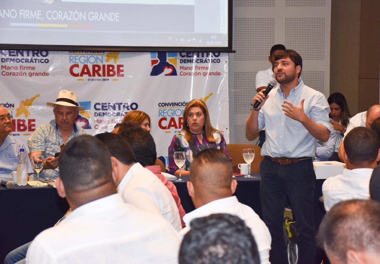 Jaime Pumarejo, en convención del uribismo en la Costa Caribe