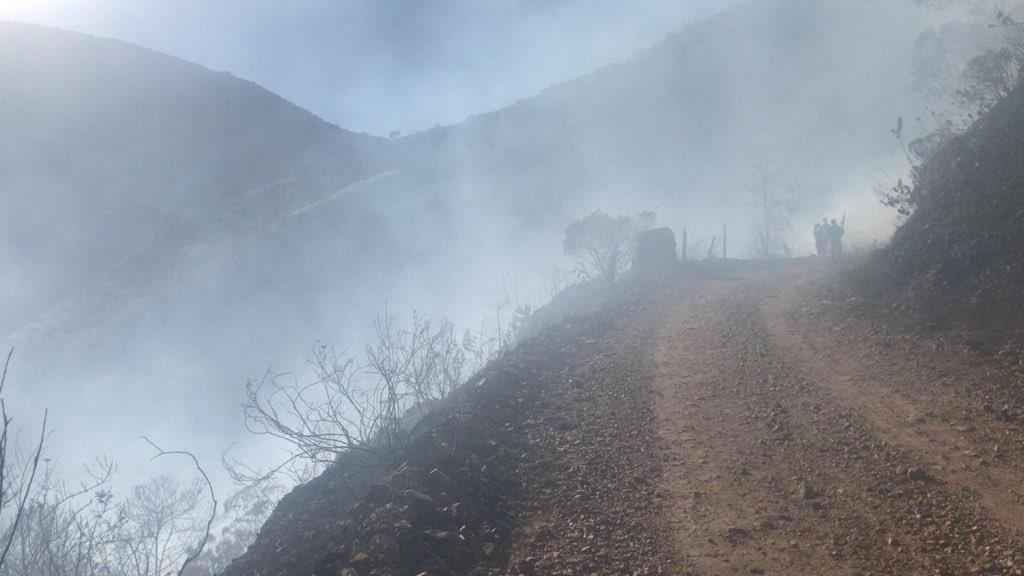 Incendio forestal en Soatá - Boyacá sigue expandiéndose