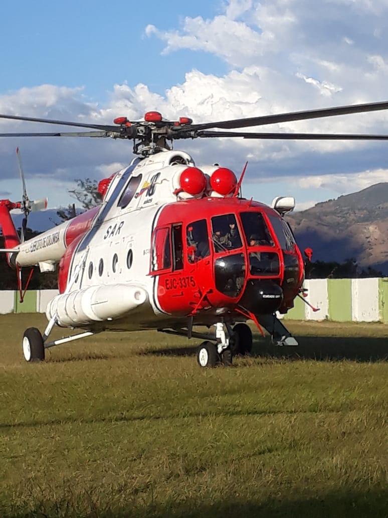 Helicóptero de la Operación Jaque sobrevoló Soatá - Boyacá