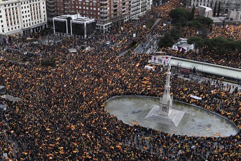 Marchas contra Gobierno Español