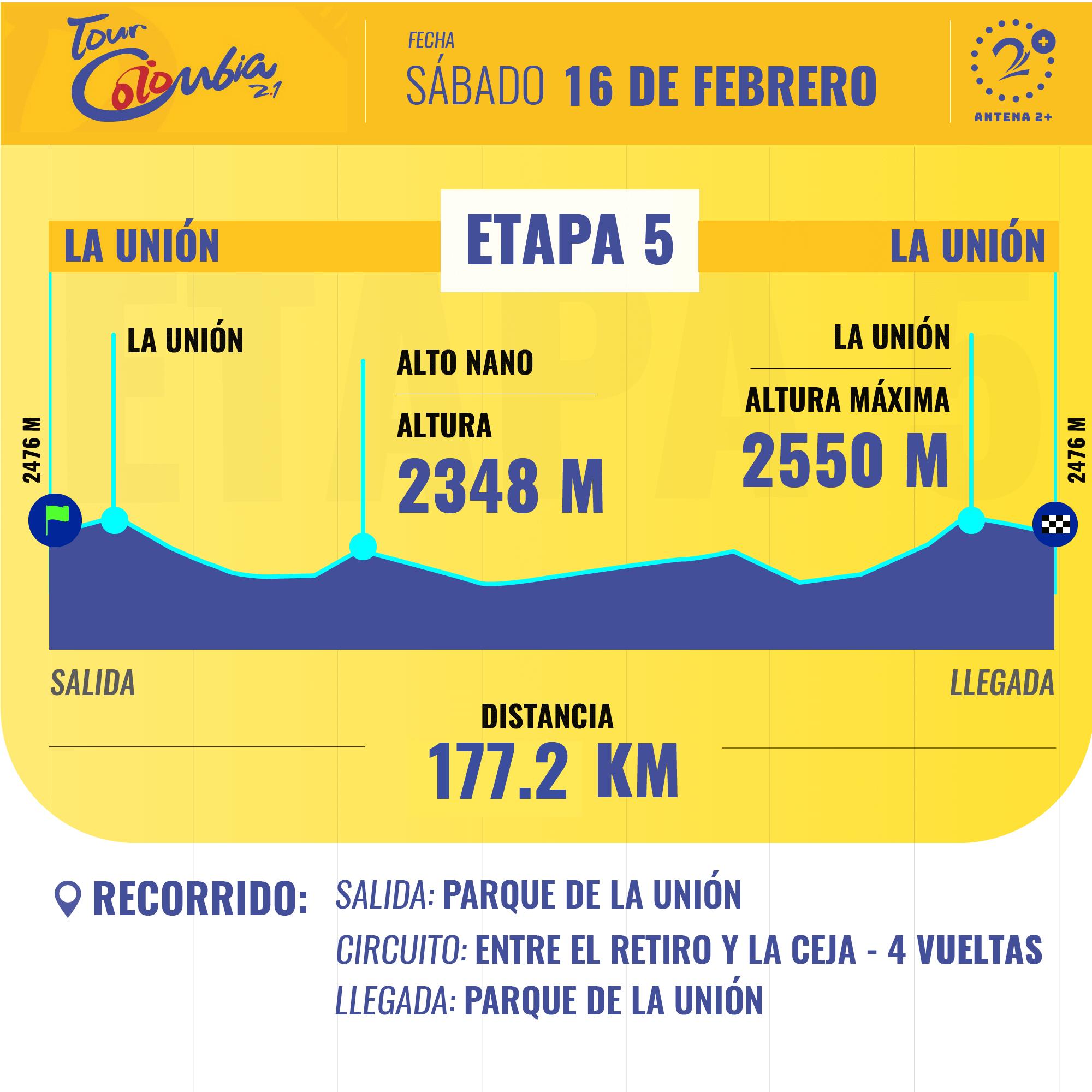 Tour Colombia 2.1, etapa 5