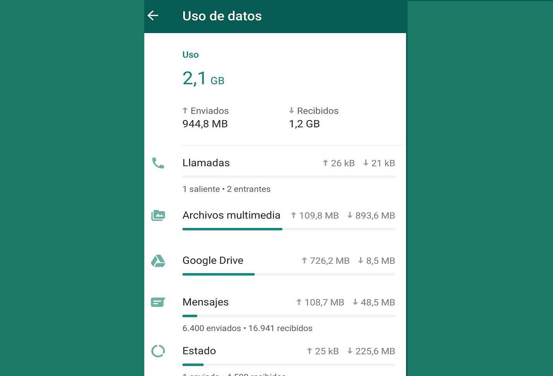 Interfaz de WhatsApp