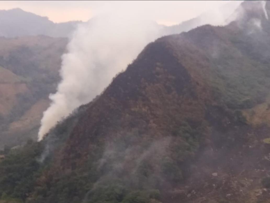 Incendio forestal en Boyacá