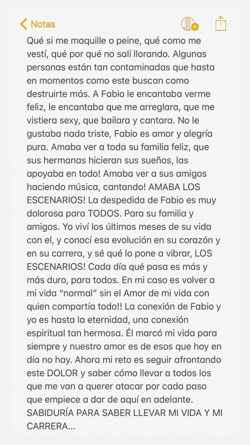 Luisa Fernada W y el mensaje