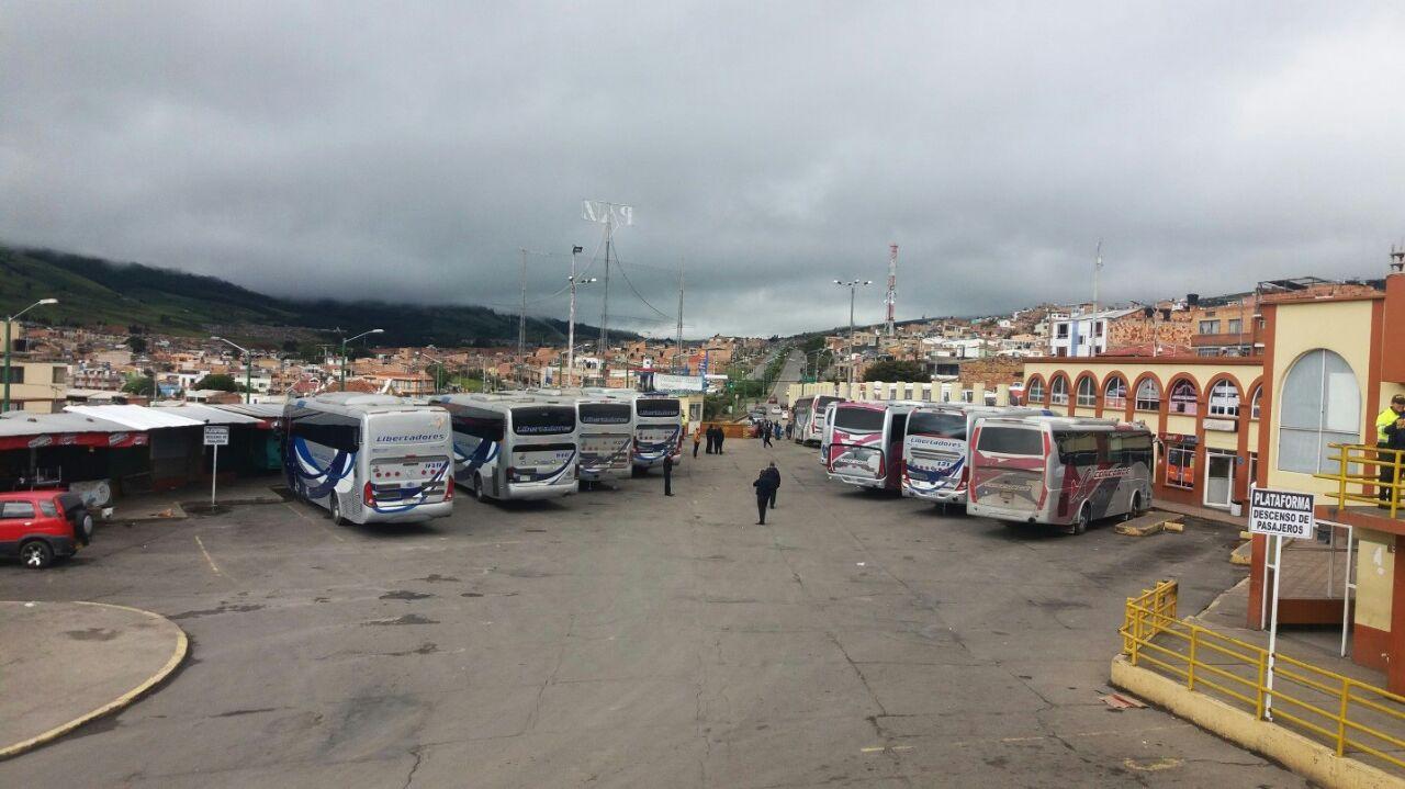 Así luce el actual terminal de transportes de Tunja