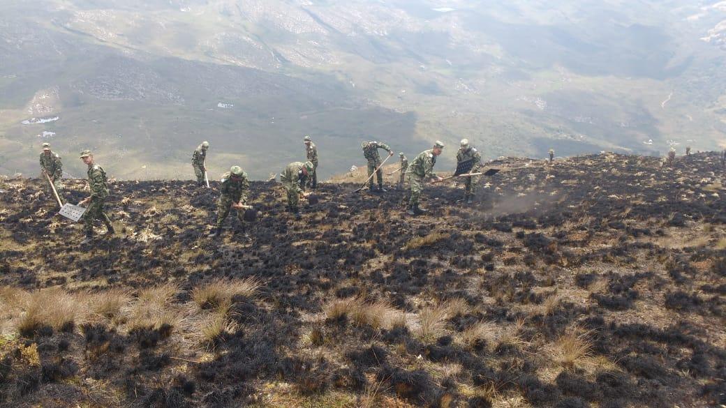 Incendio forestal en el páramo de San Ignacio (Boyacá), consumió 70 hectáreas de frailejones