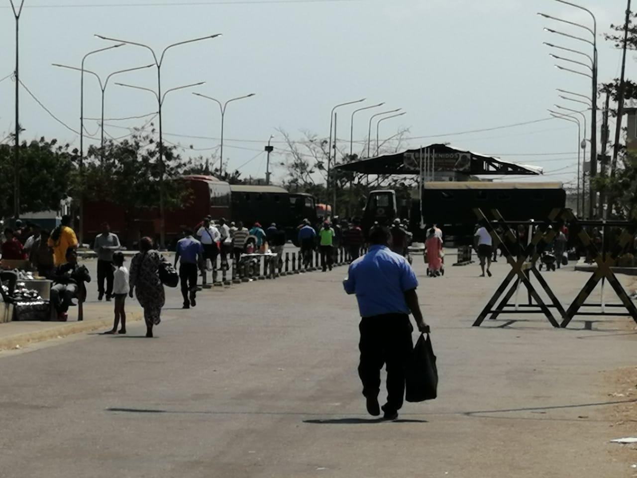 Frontera con Venezuela en La Guajira, Paraguachón.