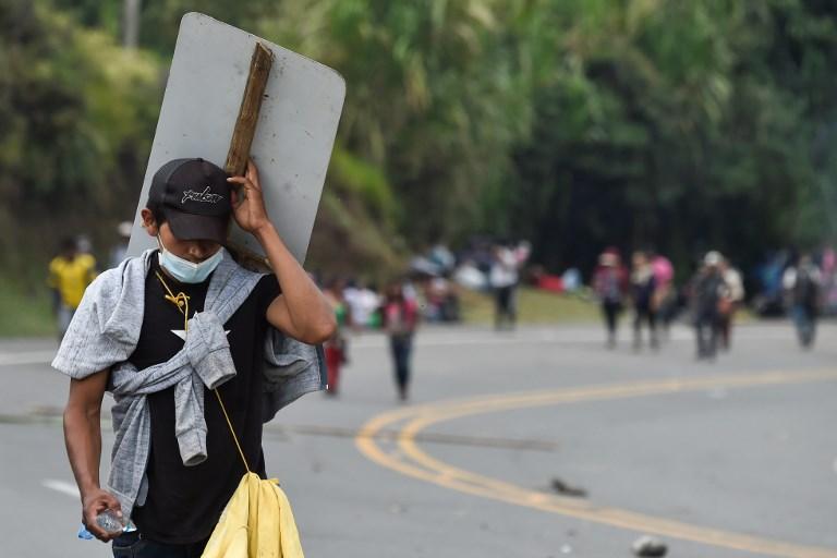 Protesta y bloqueos de indígenas en la vía Panamericana (Cauca)