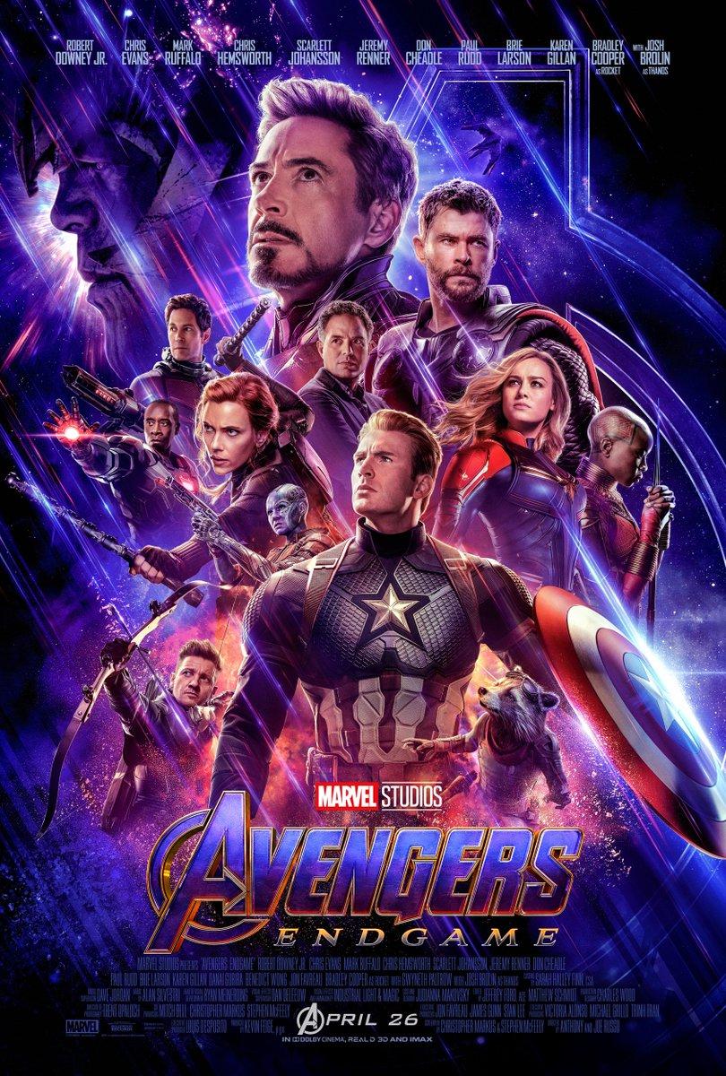 Afiche oficial de Avengers: Endgame
