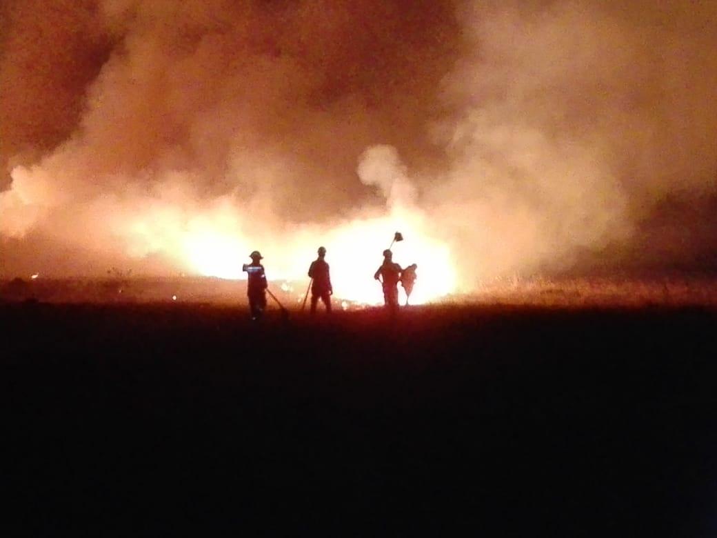 Conflagración de cobertura vegetal en Orocué (Casanare)