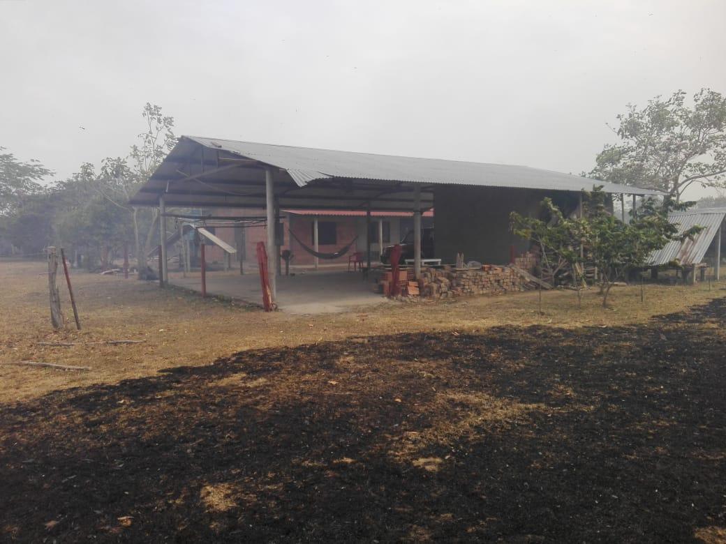 Las llamas por poco llegan hasta una vivienda en zona rural de Orocué (Casanare)