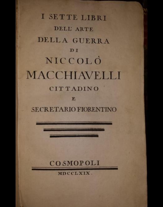 Libro de Nicolás Maquiavelo