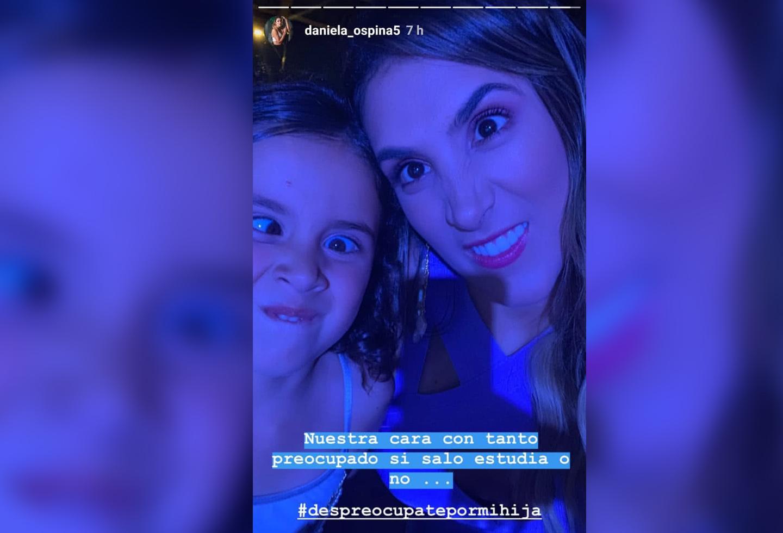 Daniela Ospina y Salomé respondiendo a través Instagram