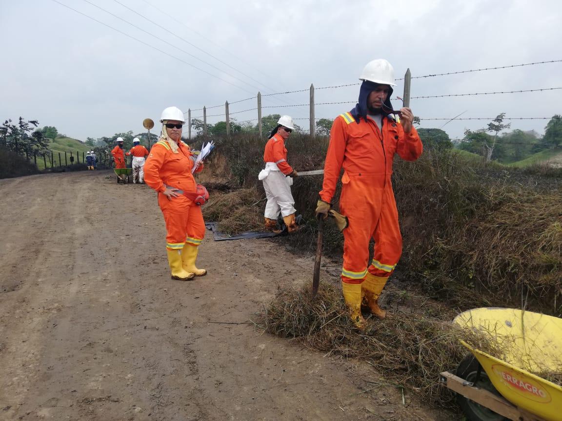 Funcionarios de Ismocol y Ocensa atendieron la emergencia en Puerto Boyacá
