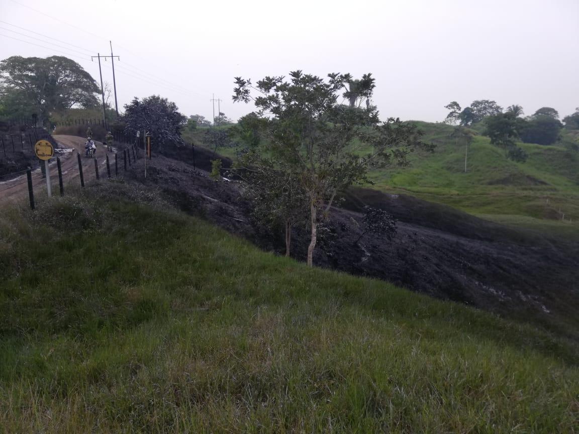 Una hectárea de tierra resultó contaminada también con el hidrocarburo en Puerto Boyacá