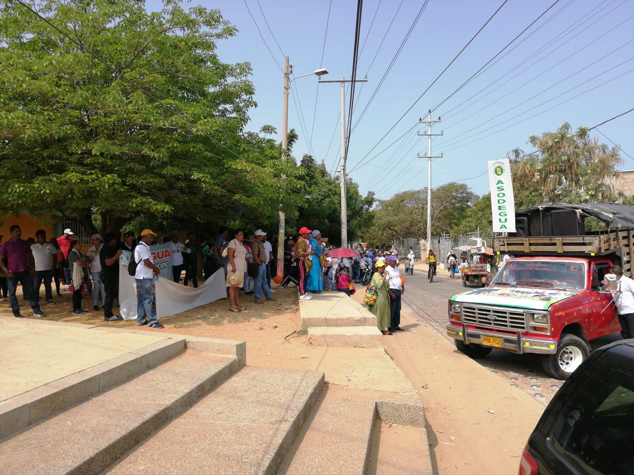 Protestas de profesores en Riohacha.
