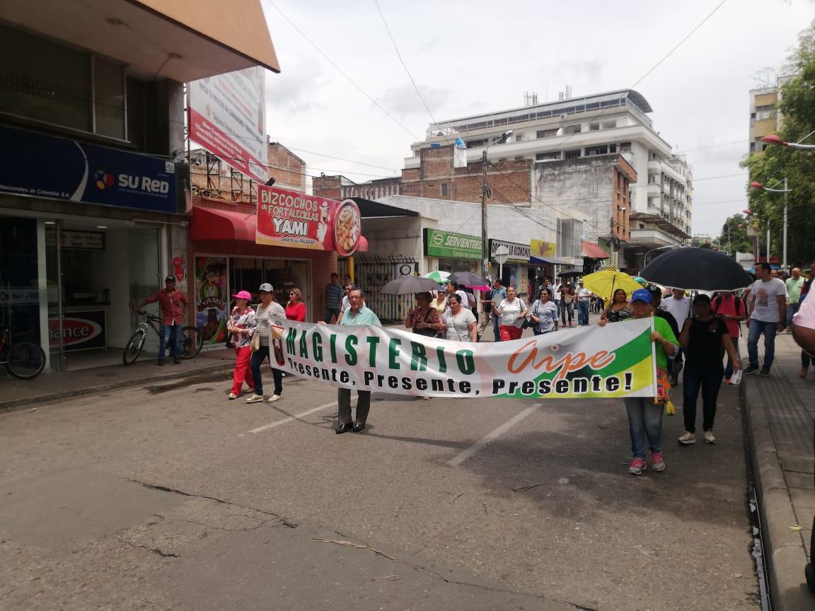 Protestas profesores en Neiva.