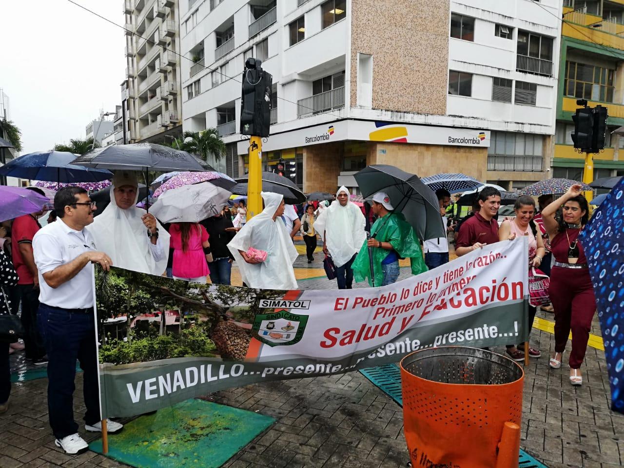 Protestas maestros en Ibagué.