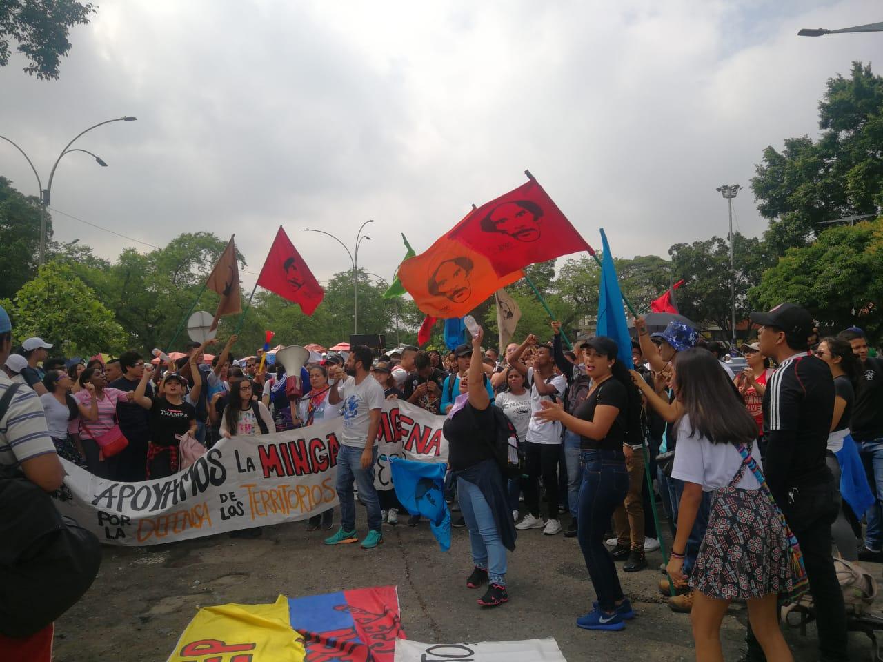 Protestas de maestros en Cali.
