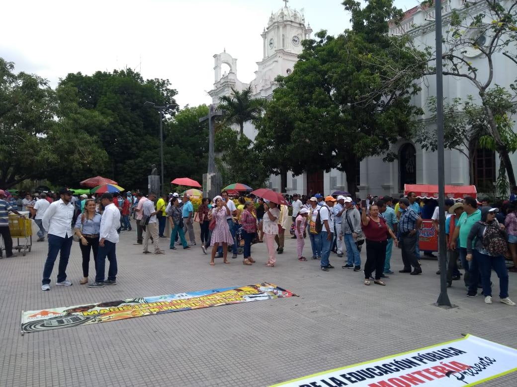 Protestas de profesores en Montería.