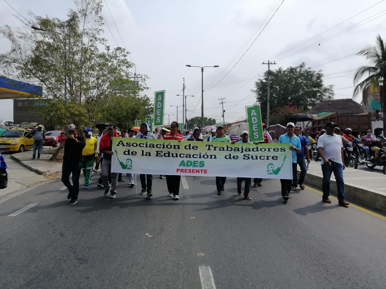 Protestas de profesores en Sincelejo.