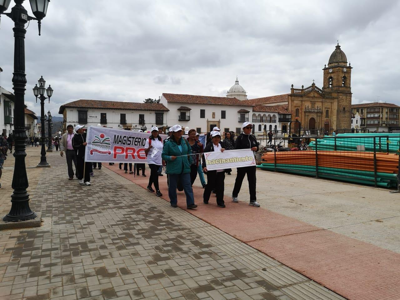 Protestas de profesores en Tunja.