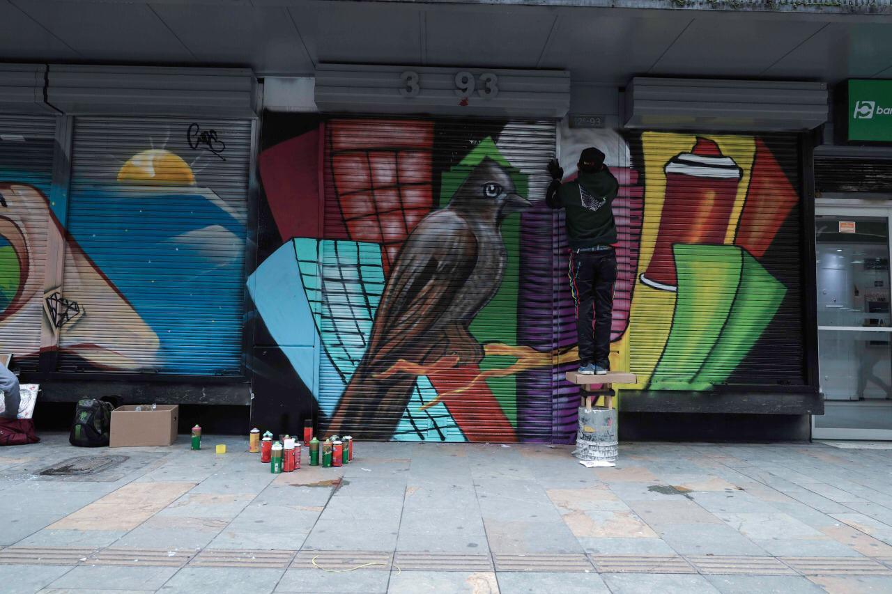 Grafitis en la Carrera Séptima de Bogotá