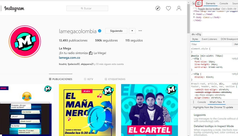Publicar en Instagram desde el pc