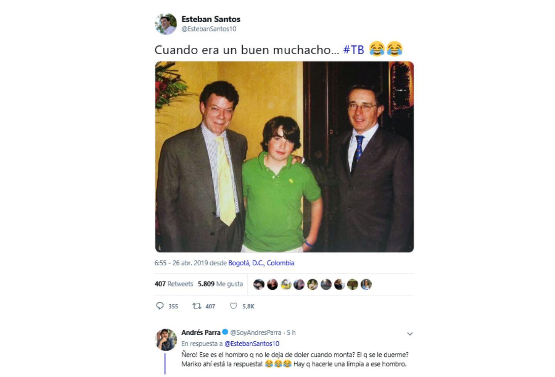 El polémico trino de Esteban Santos.