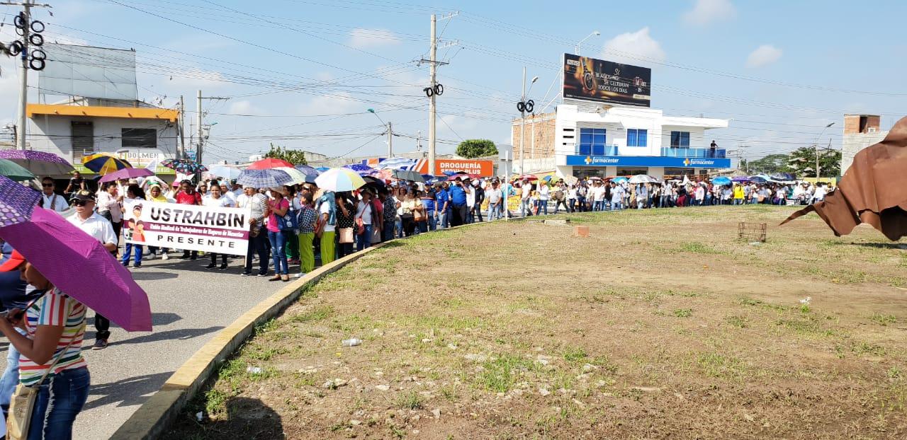 En Montería también participaron en la marcha del paro nacional
