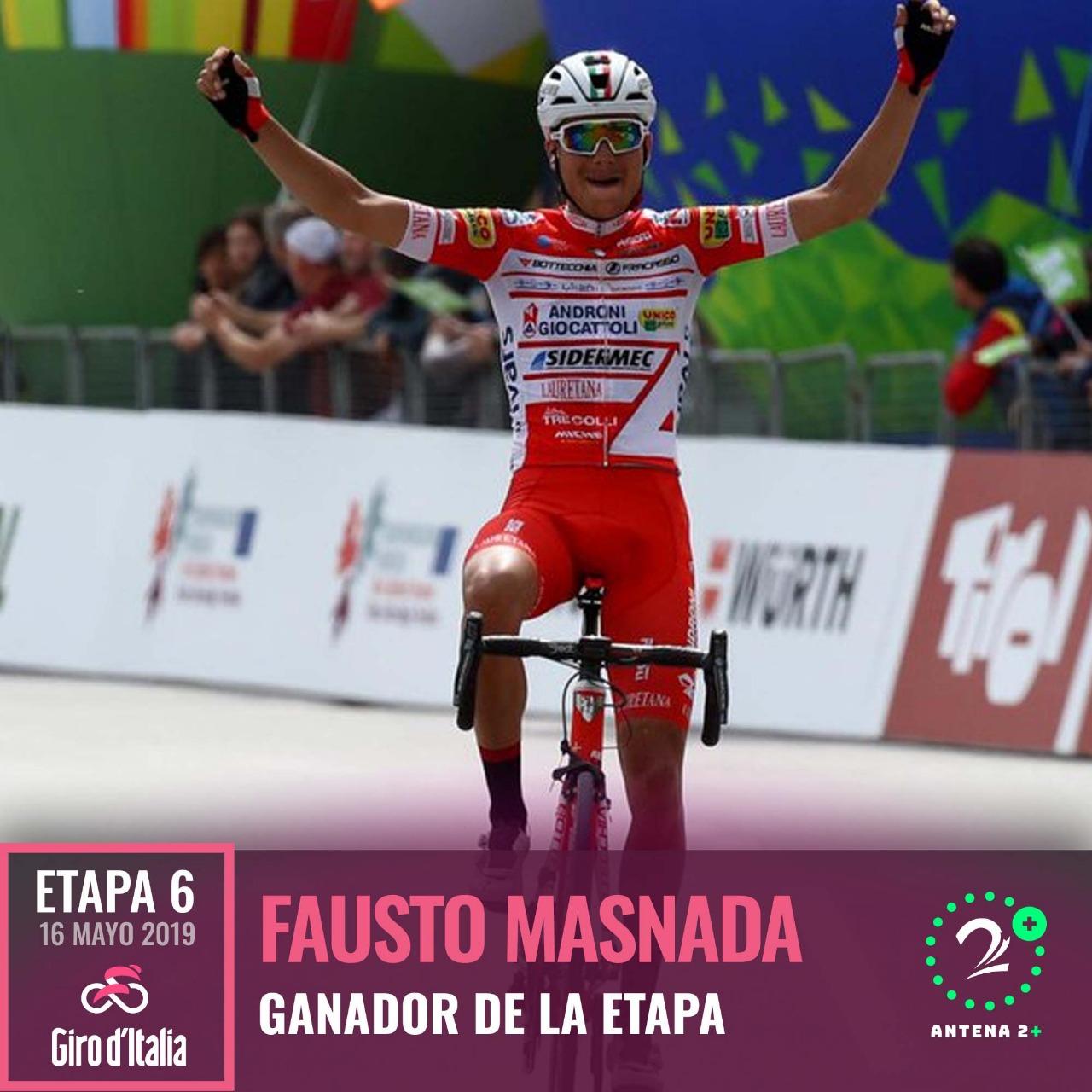 Valerio Conti le quitó la 'maglia' a Roglic y es el nuevo líder del Giro de Italia