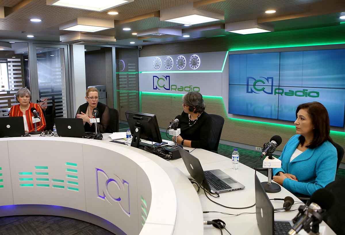 Magistradas de las altas cortes (JEP, Consejo de Estado y Corte Constitucional) en la cabina de RCN Radio con Yolanda Ruiz
