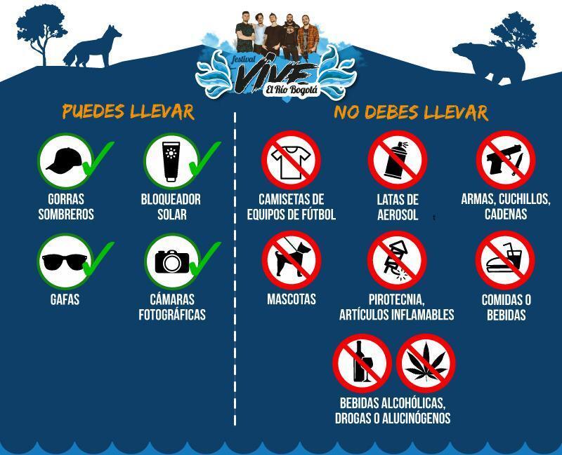 Recomendaciones para asistir al Festival Vive el Río