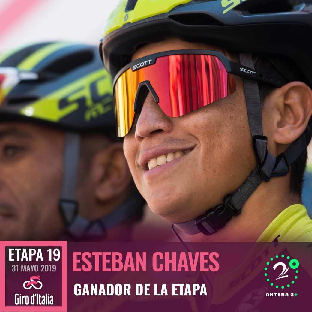 ¡Esteban Chaves gana la etapa 19 del Giro de Italia!