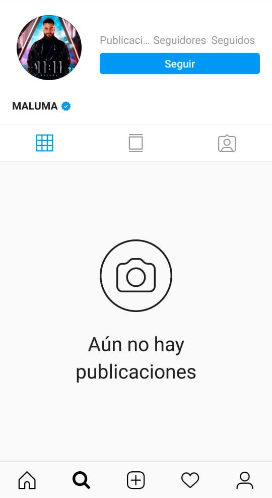 Perfil en Instagram de Maluma
