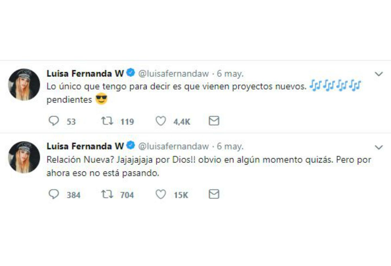 Mensajes de Luisa Fernanda W sobre relación con Pipe Bueno