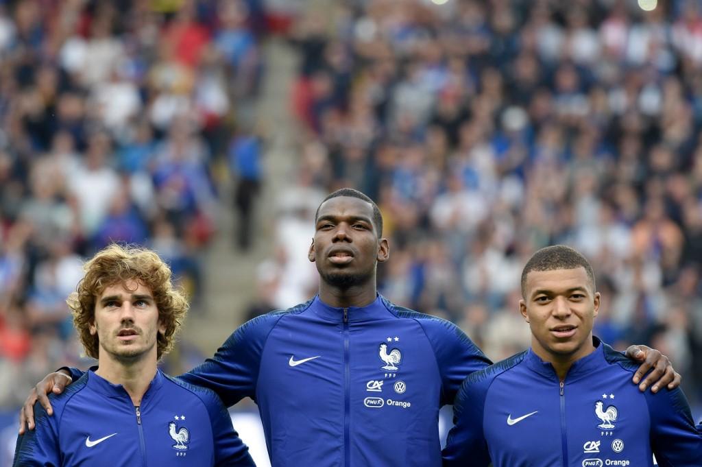 Griezmann, Pogba y Mbappé, futbolistas franceses