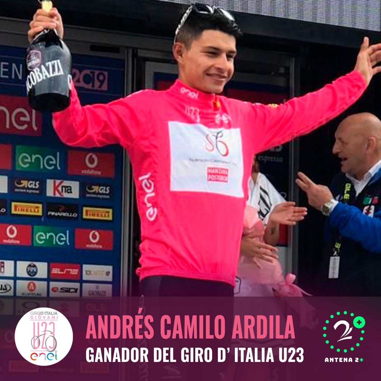 Camilo Ardila, campeón Giro de Italia sub-23