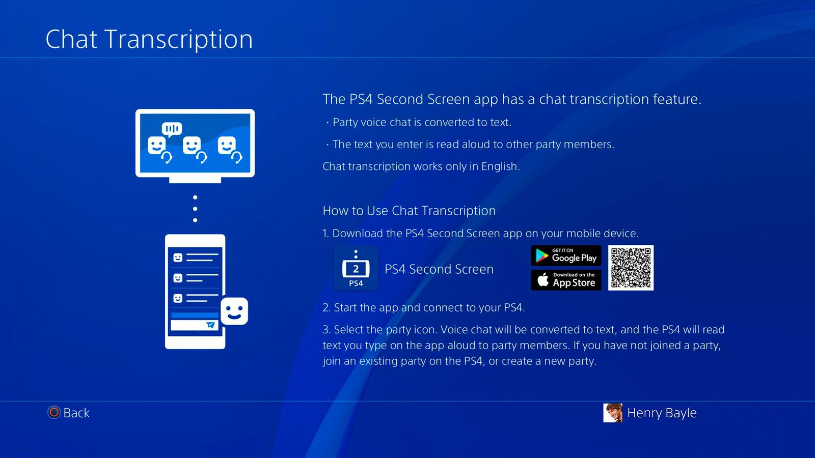 Chats en la PlayStation 4