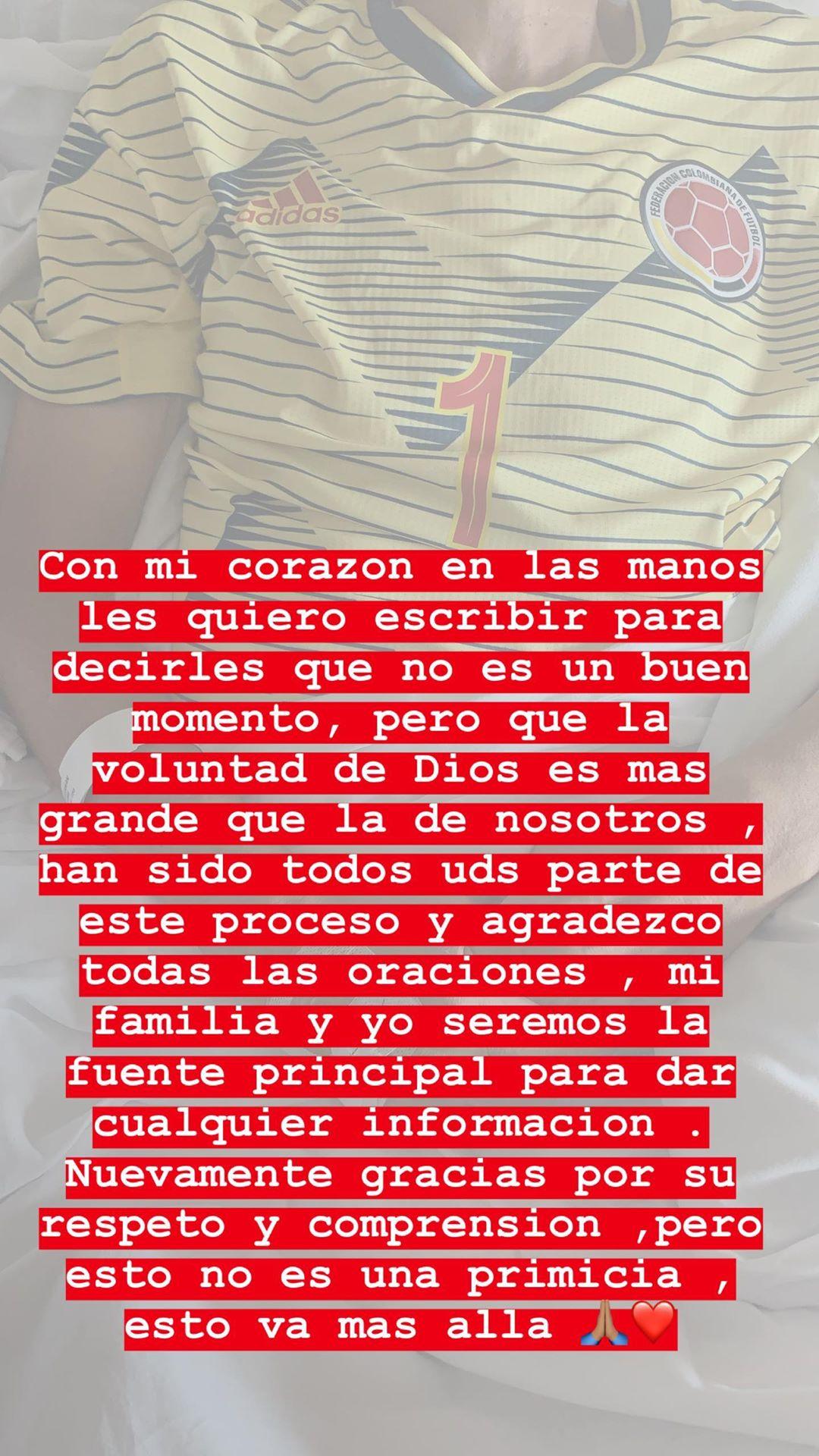 Mensaje de Daniela Ospina