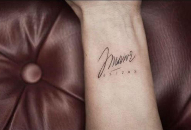 Tatuaje de Gineth Fuentes, esposa de Jota Mario